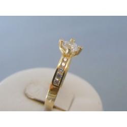 Zlatý dámsky prsteň zirkóny žlté zlato VP60313Z 14 karátov 585/1000 3.13g