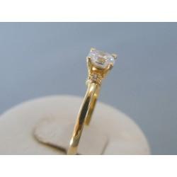 Zlatý dámsky prsteň zirkóny žlté zlato VP62258Z 14 karátov 585/1000 2.58g