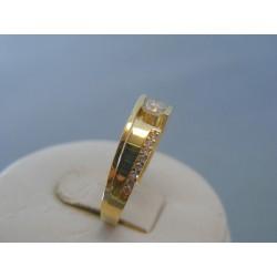 Zlatý dámsky prsteň žlté zlato zirkóny VP55254Z 14 karátov 585/1000 2.54g