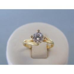 Zlatý dámsky prsteň zirkón žlté zlato VP49241Z 14 karátov 585/1000 2.41g