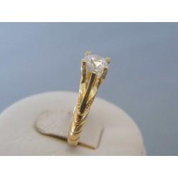 Zlatý dámsky prsteň vzorovaný žlté zlato zirkóny VP51265Z 14 karátov 585/1000 2.65g