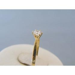 Zlatý dámsky prsteň žlté zlato zirkóny VP52165Z 14 karátov 585/1000 1.65g
