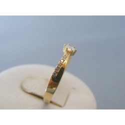 Zlatý dámsky prsteň žlté zlato zirkóny VP59161Z 14 karátov 585/1000 1.61g