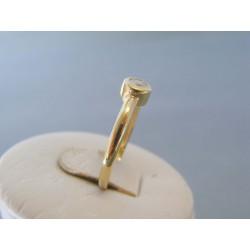 Zlatý dámsky prsteň zirkón žlté zlato VP58224Z 14 karátov 585/1000 2.24g