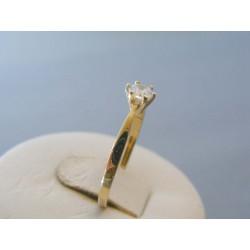Zlatý dámsky prsteň zirkón žlté zlato VP54162Z 14 karátov 585/1000 1.62g