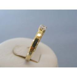 Zlatý dámsky prsteň zirkóny žlté zlato VP59223Z 14 karátov 585/1000 2.23g