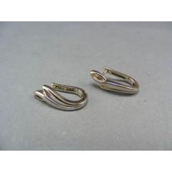Zlaté náušnice z bielého zlata obdĺžnikový tvar VA375/1