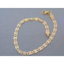 Zlatý náramok z viacfarebného zlata VN18402V
