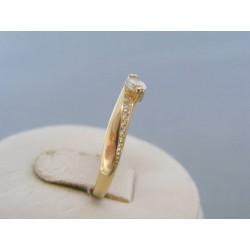 Zlatý dámsky prsteň kamienky žlté zlato DP53165Z 14 karátov 585/1000 1.65g