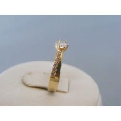 Zlatý dámsky prsteň zirkóny žlté zlato DP55123Z 14 karátov 585/1000 1.23g