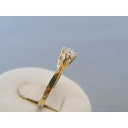 Zlatý dámsky prsteň žlté zlato zirkón DP56174Z 14 karátov 585/1000 1.74g