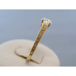 Zlatý dámsky prsteň zirkóny žlté zlato DP56317Z 14 karátov 585/1000 3.17g