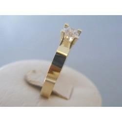Zlatý dámsky prsteň žlté zlato kamienky DP57422Z 14 karátov 585/1000 4.22g