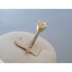 Zlatý dámsky prsteň žlté zlato zirkóny DP52183Z 14 karátov 585/1000 1.83g