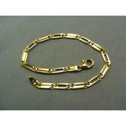 Zlatý náramok zo žltého zlata podlhovasté očka VN19702Z