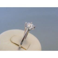 Zlatý dámsky prsteň zirkón biele zlato DP55160B 14 karátov 585/1000 1.60g