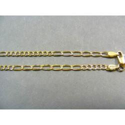 Zlatá retiazka vzor široké figaro VR45392