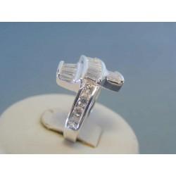 Strieborný dámsky prsteň zirkóny DPS52594 925/1000 5.94g