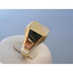 Zlatý pánsky prsteň trojfarefbé zlato DP63419V 14 karátov 585/1000 4,19g