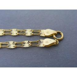 Zlatý dámsky náramok vzorovaný žlté zlato DN195170 14 karátov 585/1000 1,70g