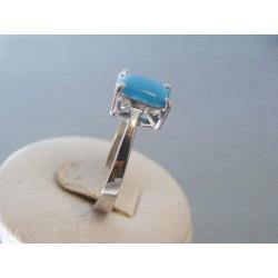Strieborný dámsky prsteň modré očko VPS60437 925/1000 4,37g