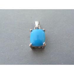 Strieborný dámsky prívesok modré očko VIS167 925/1000 1,67g