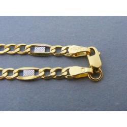 38b110dff Zlatá pánska retiazka figaro biele žlté zlato DR60512V 14 karátov 585/1000  5,12g