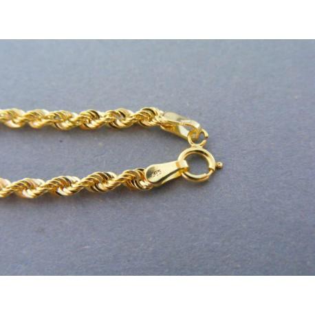 Zlatý dámsky náramok točený žlté zlato DN19147Z 14 karátov 585/1000 1,47g