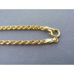 Zlatý dámsky náramok točený žlté zlato DN19104Z 14 karátov 585/1000 1,04g