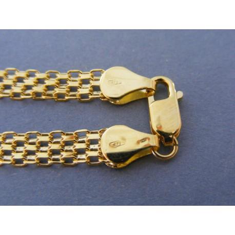 Zlatý dámsky náramok vzor bismark žlté zlato DR19445Z 14 karátov 585/1000 4,45g
