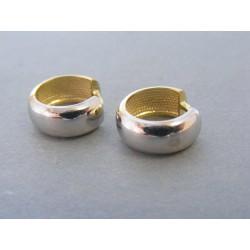 Zlaté dámske náušnice krúžka biele žlté zlato DA331V 14 karátov 585/1000 3,31g