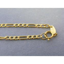 Zlatá pánska retiazka vzor figaro žlté zlato DR545234Z 14 karátov 585/1000 2,34g