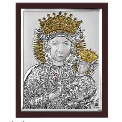 Strieborný obraz panna Mária s Ježiškom pozlatený VO652013OWM