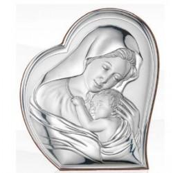 Strieborný obraz Panna Mária s Ježiškom VO810512LPE
