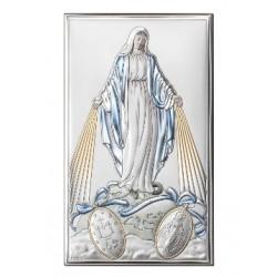 Strieborný obraz Panna Mária farebný VO813223+LCOL