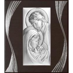 Strieborný obraz svätá rodina drevo VO6380F/3