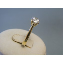 Zlatý dámsky prsteň biely zirkón žlté zlato DP53297Z 14 karátov 585/1000 2,97g