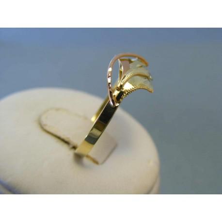 Zlatý dámsky prsteň žlté červené zlato DP64200V 14 karátov 585/1000 2,00g