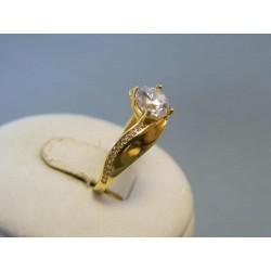 Zlatý dámsky prsteň žlté zlato zirkóny DP53192Z 14 karátov 585/1000 1,92g