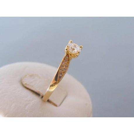 Zlatý dámsky prsteň zirkóny žlté zlato VP59195Z 14 karátov 585/1000 1,95g