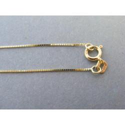 Zlatá retiazka spájaný vzor žlté zlato DR45103Z 14 karátov 585/1000 1,03g