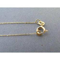 Zlatá retiazka ručný vzor žlté zlato DR45072Z 14 karátov 585/1000 0,72g