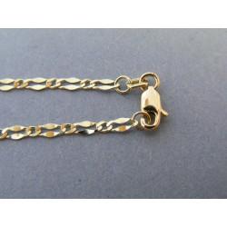 Zlatá retiazka vzor figaro žlté zlato DR50338Z 14 karátov 585/1000 3,38g