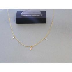 Zlatá dámska retiazka viacfarebné zlato prívesky DR445197V 14 karátov 585/1000 1,97g