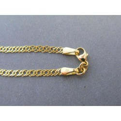 Zlatý náramok vzor rombo DN19166Z 14 karátov 585/1000 1,66g