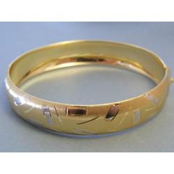 Zlatý dámsky náramok pevný biele žlté zlato DN1435V 14 karátov 585/1000 14,35g