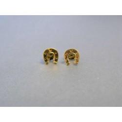 Zlaté náušnice kotvy napichovačky žlté zlato DA049Z 14 karátov 585/1000 0,49g