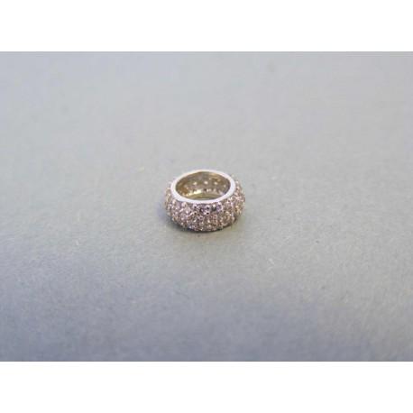 Zlatý dámsky prívesok biele zlato zirkóny DI051B 14 karátov 585/1000 0,51g