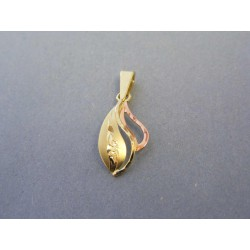 Zlatý dámsky prívesok žlté červené zlato DI078V 14 karátov 585/1000 0,78g