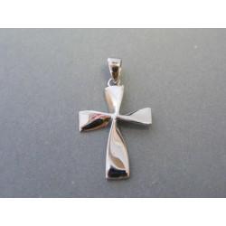 Zlatý prívesok krížik biele zlato DI112B 14 karátov 585/1000 1,12g